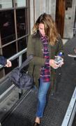 Billie Piper Leaving BBC Radio One in London 01-02-2011