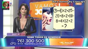 Sara Santos sensual no programa Vamos Jogar