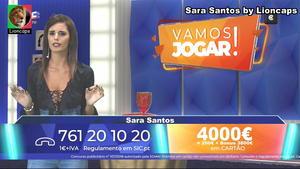 Sara Santos sensual a apresentar o Vamos Jogar