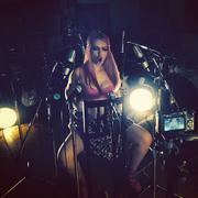 Skye Sweetnam - Shooting A Sumo Cyco Video In A Pink Bra - Instagram Pic - 2014 (1xMQ)