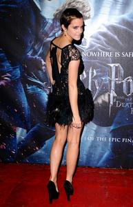 Emma Watson see through Harry Potter Premiere