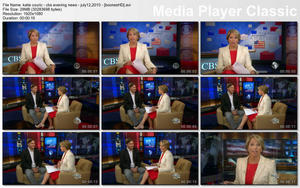 KATIE COURIC - &amp;quot;CBS Evening News&amp;quot; (July 12, 2010) - *legs*